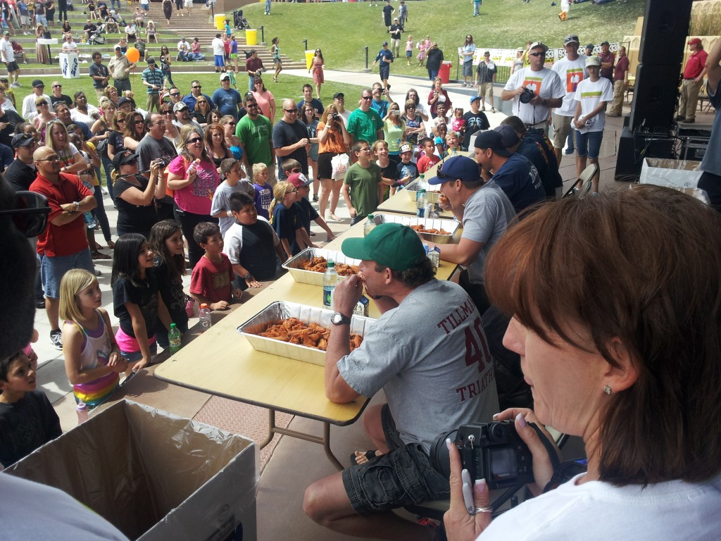 Wingstock eating competition