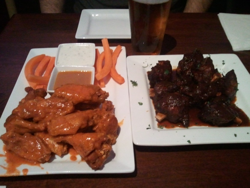 Rehab Burger Therapy wings and pig wings
