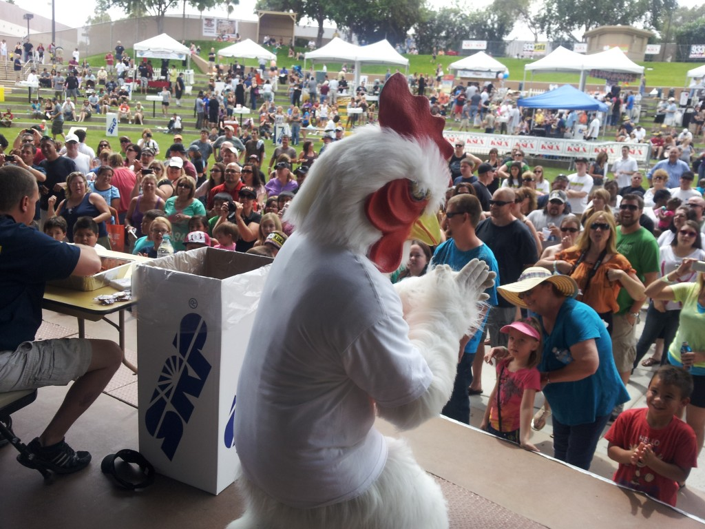 Giant Chicken Man preps for his new movie deal with Marvel